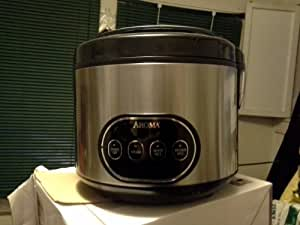 Aroma Housewares 16-Cup (Cooked) Digital Rice Cooker and Food Steamer, Stainless Steel