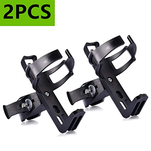 ieasky Bike Water Bottle Holder No Screws, 2 Pcs Adjustable Bicycle Water Bottle Rack Cage 360 Degree Rotating for MTB Stroller Motorcycle Black