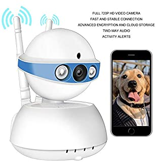 Security Camera WiFi Camera-ALIKE 720P Indoor Tilt Wireless Security IP Camera Full HD Home Video Surveillance System with HD Night Vision,Motion Detection Pan,Two-Way Audio,Cloud Storage (Blue)