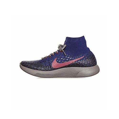 NIKE Gyakusou Lunarepic Flyknit FK Shield Sneakers, Deep Royal Blue/White-Black (11)