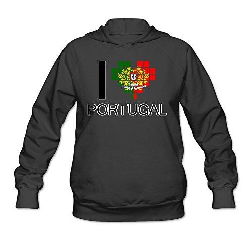 CYANY I LOVE PORTUGAL FOOTBALL Women's Unique Hoodies Hooded Sweatshirt - Gatsby Malaysia