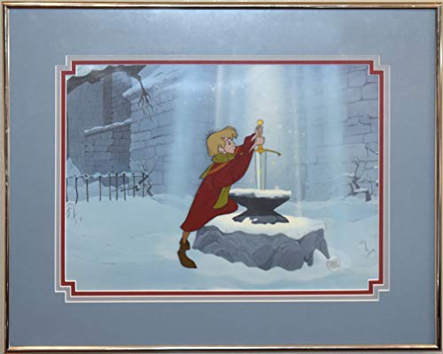 disney cel the sword In the stone excalibur rare animation edition