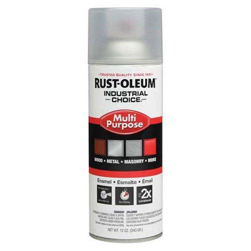 Rust-Oleum Industrial 1600 System Gen Purpose Enamel Aerosol, Crystal Clear 16 oz. Can - Lot of 6 (Enamel Clear Rust Oleum Crystal)