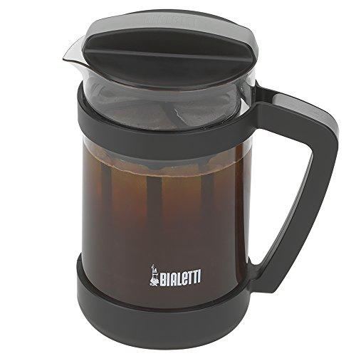 Bialetti Cold Brew Coffee Maker 06765 Glass Carafe & Stainless Steel Mesh Filter Compact ...