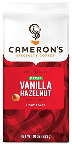 Cameron's Coffee Roasted Ground Coffee Bag, Flavored, Decaf Vanilla Hazelnut, 10 Ounce