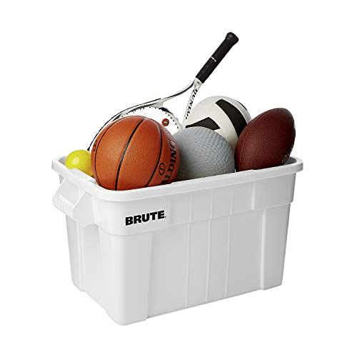Rubbermaid Commercial Products Brute Tote Storage Container with Lid, 20-Gallon, White (FG9S3100WHT) (Pack of 6) by Rubbermaid Commercial Products (Image #4)