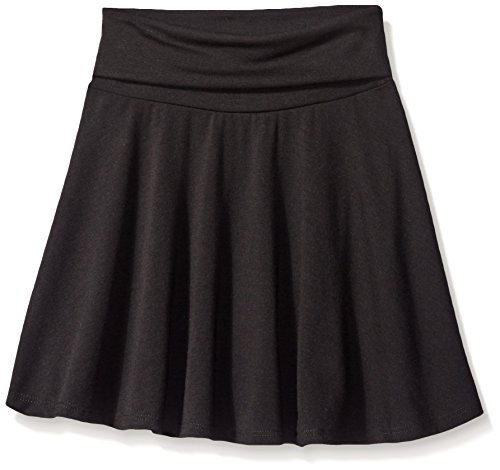 Amy Byer Big Girls' Everyday Favorite Fold-Over Skirt, Black, Medium