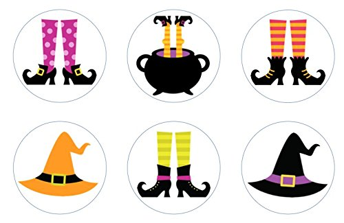 (Halloween Wicked Witch Feet Edible Cupcake Toppers)