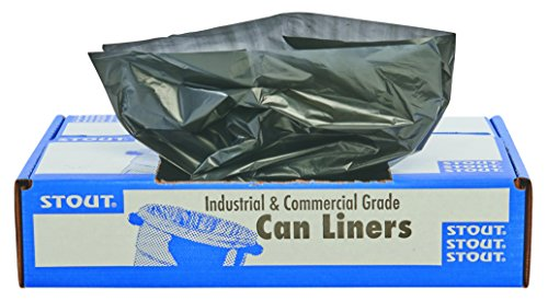 100 Total Bags - STOUT by Envision T4048B15 Total Recycled Content Bags, 100% Recyled Plastic, 40