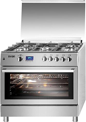 Cocina 5 fuegos SVK9561FX PRO 90x60 cm, INOX SVAN: Amazon.es: Hogar