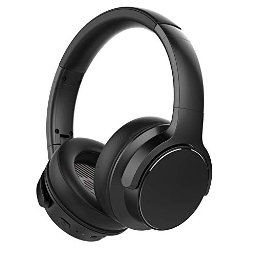 2020 BEJOY Active Noise Cancelling Headphones, Bluetooth 5.0 with CVC Dual-Mic Noice Reduction, 40mm HiFi Drivers with 30H Play Time, Fitting Protein Ear Pads and Headband for Commuting and Travel