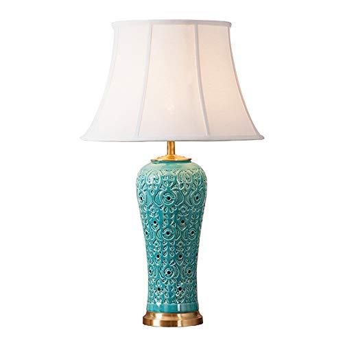 XULIWEI Hermosa lámpara de Mesa de cerámica Oriental Grande ...
