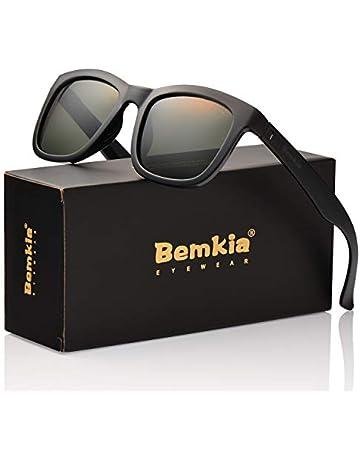 df201e6c14 Bemkia Sunglasses Polarized Men Women Outdoor UV 400 54MM (17 Glossy  Frame Grey Green
