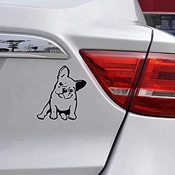 LanLan Decorazione per Macchina Adesivo Creativo Decorazione dellautomobile dellautomobile dellautoadesivo del Cane del Bulldog Francese di Modo Nero