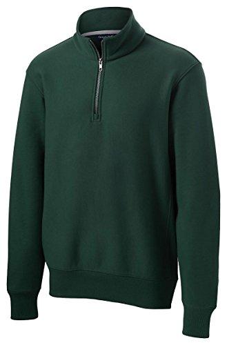 - Sport-Tek Men's Super Heavyweight 1/4 Zip Pullover Sweatshirt L Dark Green
