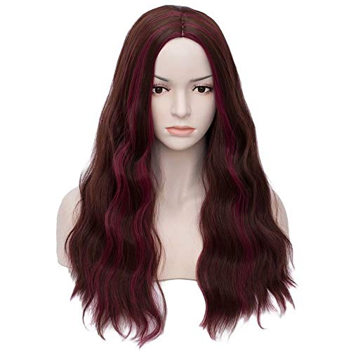 COSPLAZA Heat Resistant Brown Red 22 Inches Women