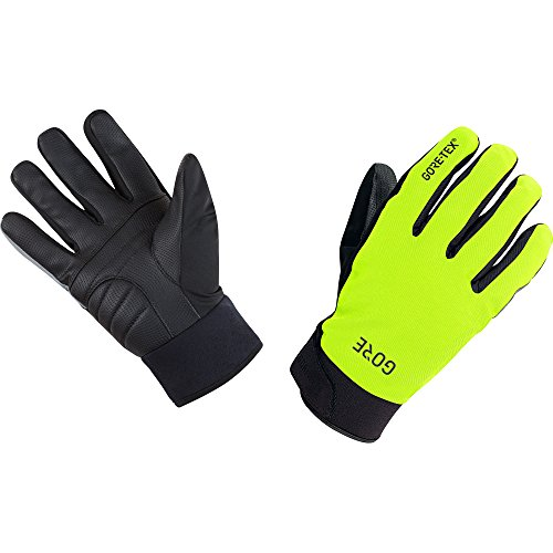 (GORE WEAR Men's Waterproof Bike Gloves, C5 Thermo Gloves, Size: L, Color: Neon Yellow/Black, 100401)