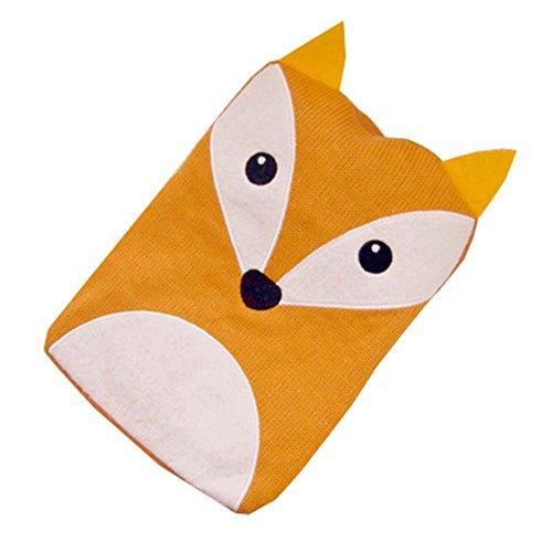 1L Wärmflasche Klassische Premium Hot Rubber Tasche mit Soft Cover (Fox)