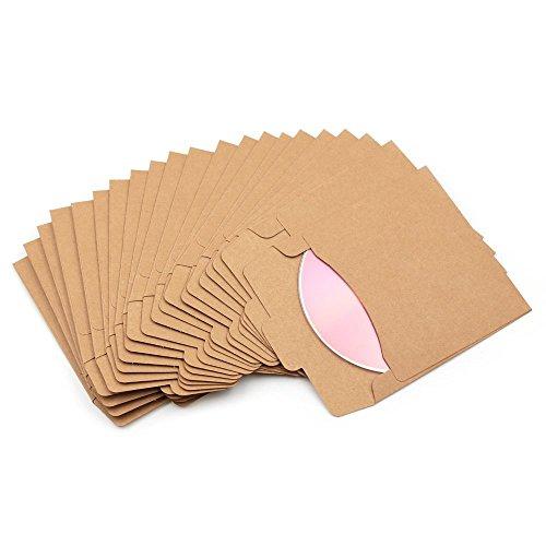 Fundas de papel para CD y DVD, con soporte para CD y DVD, Marrón, 10Pcs