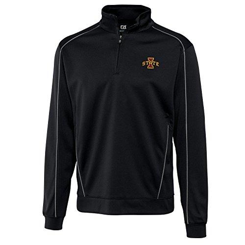 Cutter & Buck NCAA Iowa State Cyclones Men's Edge Half Zip Jacket, Medium, -