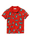 Lacoste Boys Print Kids Polo T-Shirt Red in Size 1 Years (74 cm)