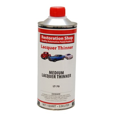 Restoration Shop Acrylic Lacquer Medium Thinner Low-Temp Topcoat Thinner Quart
