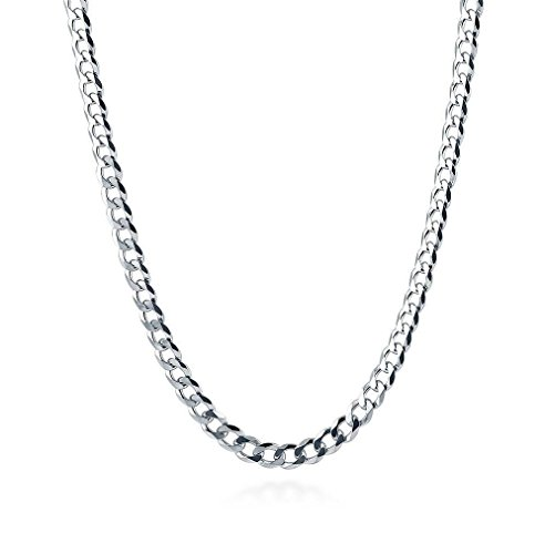 Designer Inspired 2mm Silver Curb Chain Necklace Sterling 925 16'' 18'' 20'' 22'' 24'' 26'' 28'' 30'' (22) by Designer Inspired