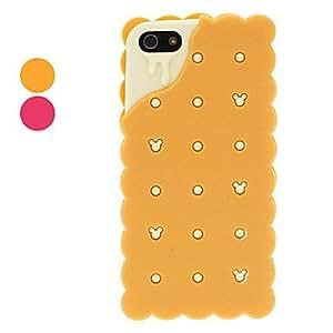 conseguir Sándwich de galleta diseñado caso suave gel de sílice para el iphone 5/5s (colores surtidos) , Naranja