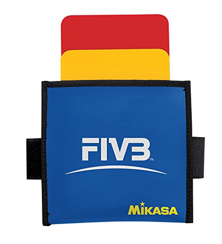 Mikasa VK Volleyball Referee Cards, Red/Yellow, Size 4