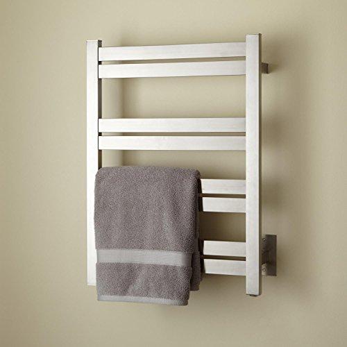Bon Naiture 27 3/4u0027u0027 Tall Hardwired Towel Warmer In Brushed Stainless Steel