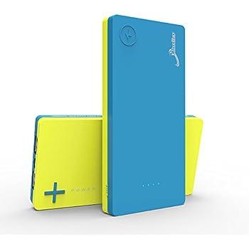 Elivebuy iMiX 2nd Gen 10000mAh Dual-Port Portable USB Power Bank - Blue / Yellow