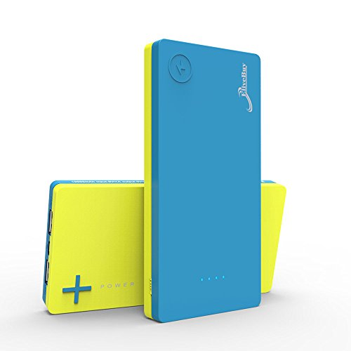 Elivebuy iMiX 2nd Gen 10000mAh Dual-Port mobile USB strength Bank - Blue / Yellow