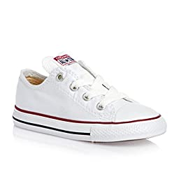 Converse Chuck Taylor Infants Toddler Optical White Ox Canvas Skateboarding Shoes (6, White)