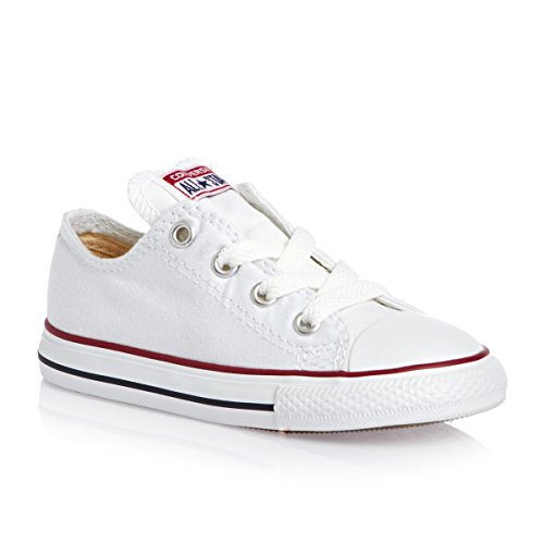 Converse Chuck Taylor Infants Toddler Optical White Ox Canvas Skateboarding Shoes (5, White) (All Star Converse Kids)