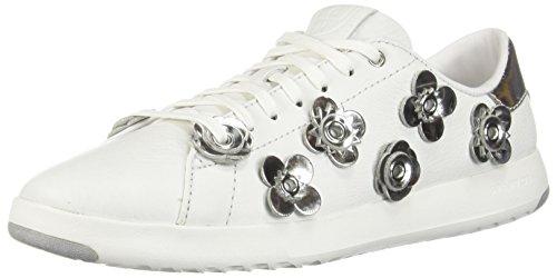 Cole Haan Women's Grandpro Tennis Sneaker 6.5 Optic White-Argento Specchio by Cole Haan