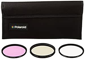 Polaroid Optics juego de filtros de 62 mm de 3 piezas (UV, CPL, FLD)