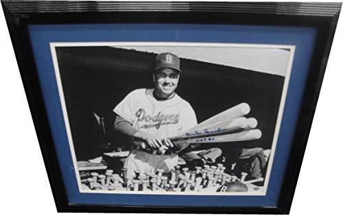 Duke Snider Hand Signed Autographed 16x20 Photo Custom Framed Dodgers W/COA HOF