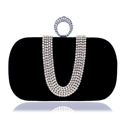 And Bag Club Evening Personalized Fashion Black Night Banquet Gift Shoulder Party Bride With Red Bridesmaid Handbag Bag JUZHIJIA 8xpqaSEW