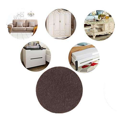 Non Slip Furniture Pads,217 Pcs Furniture Grippers Self Adhesive Rubber Pads,Non Skid Brown Furniture Pad for Hardwood Floor Chair Legs Feet Protectors