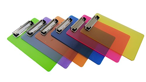 Mini Multicolored Clipboards, By Dondor (9'' x 6'' Inches, Multicolored) by Dondor