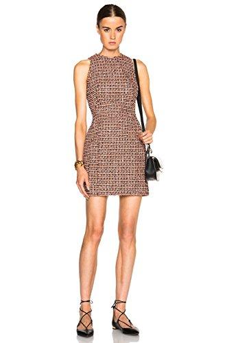 Victoria Beckham Denim Women's Narrow Shoulder Dress in Neon Tweed Size US 2 UK 6