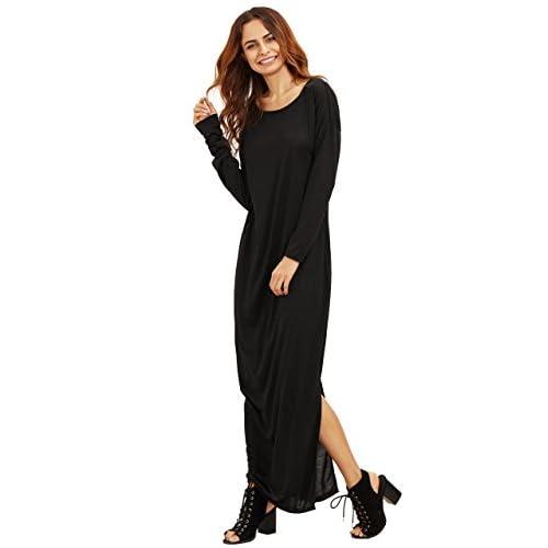 MakeMeChic Women s Boat Neck Long Sleeve Long Maxi Dress cheap - www ... 447709c11