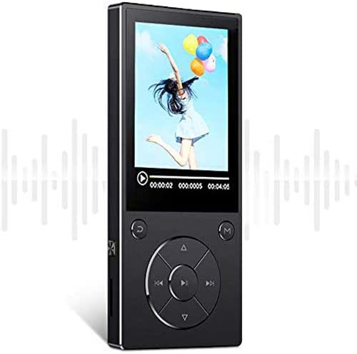 DeeFec 16GB Bluetooth4.1 MP3 Music Player Built-in Speaker with 2.4inch HD Screen, FM Radio, Voice Recorder Functions Metal Body, Support SD Card up ...