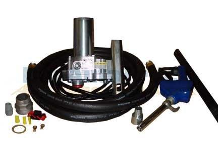 GPI 110300-2 M-180S-AU High Flow Aluminum Gear Pump with Automatic Unleaded Nozzle, 12V DC