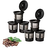 Foho 6 Pack of Reusable Solo Coffee Pod Filters Compatible with Keurig K cup coffee system (Free 1Psc Plastic Spoon)