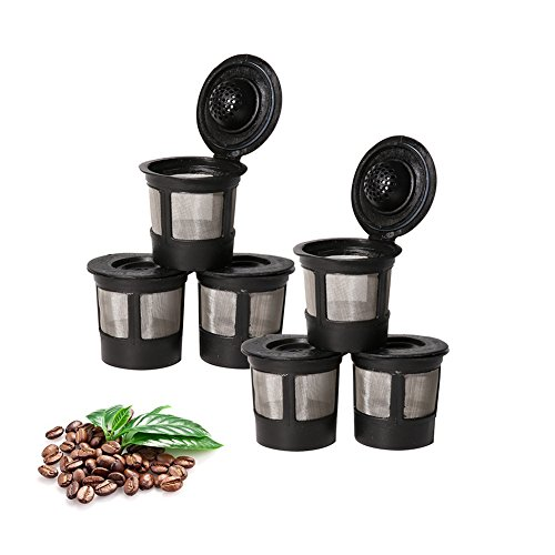 Foho 6 Pack of Reusable Solo Coffee Pod Filters Compatible with Keurig K cup coffee system (Free 1Psc Plastic Spoon) by Foho