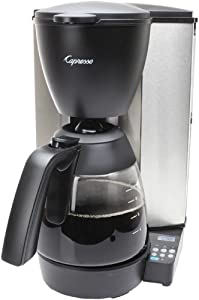 Capresso 484.05 MG600 Plus 10-Cup Programmable Coffee Maker with Glass Carafe : Seems like a good machine but I liked my Braun better