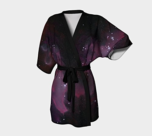 Silky Purple Galaxy Kimono Robe (Galaxy Lounge)