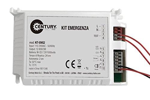 Plafoniera Con Kit Emergenza : Dm kit di conversione luce emergenza w