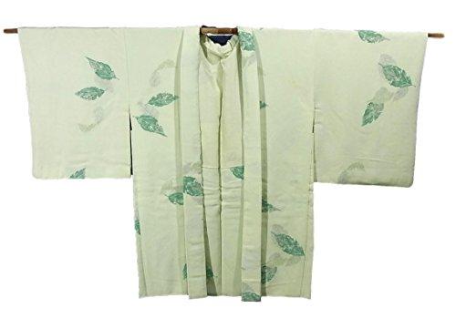 リサイクル 羽織 正絹 木の葉 裄64.5cm 身丈83cm